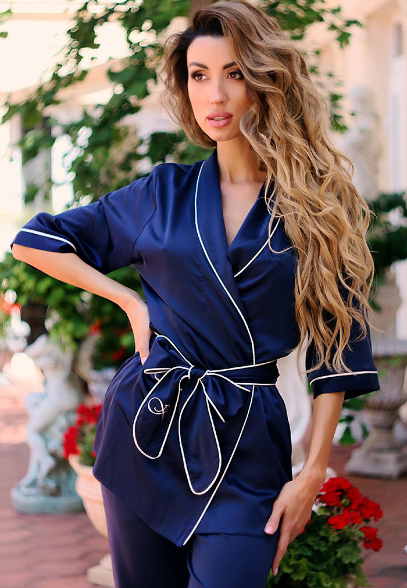 Комплект блузон/брюки