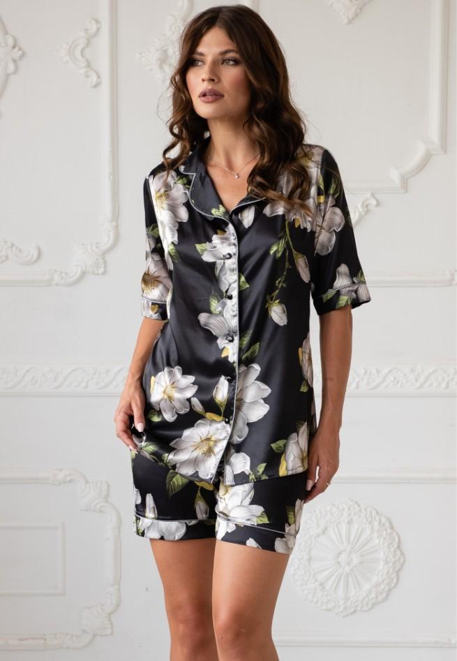 Пижама (блузон/шорты) Rebecca