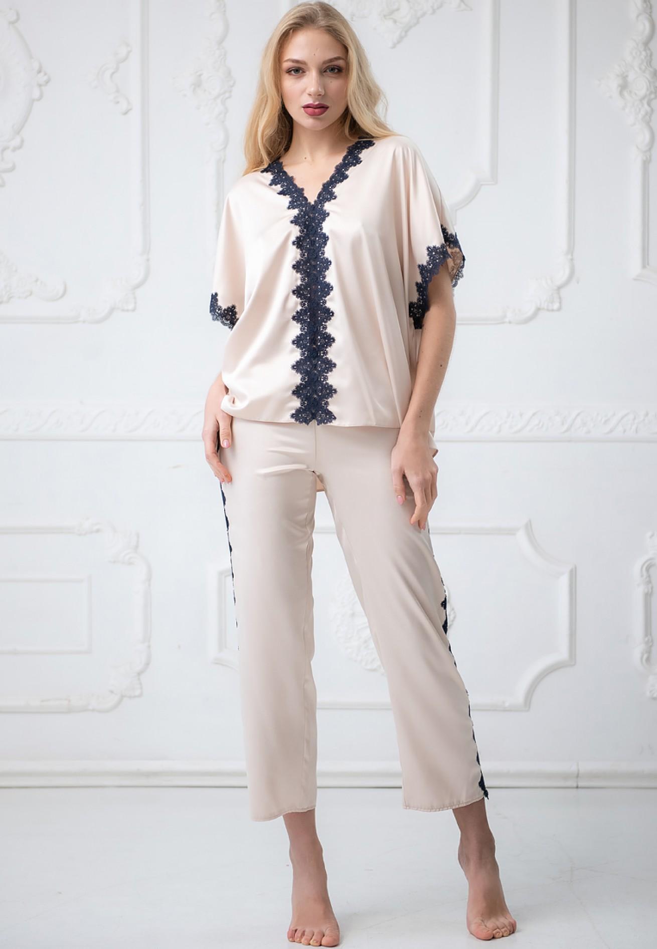 Пижама (блузон брюки) Crocus