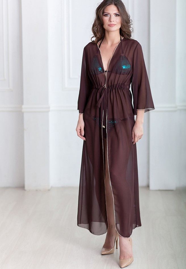 Халат Provence коричневого цвета