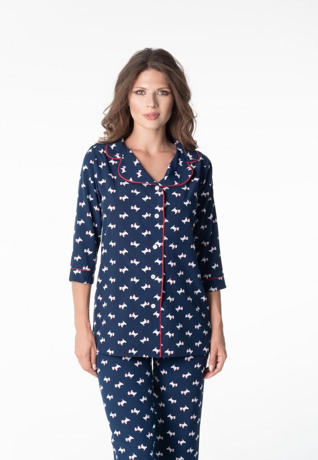 Пижама (блузон брюки) Lucy 3147